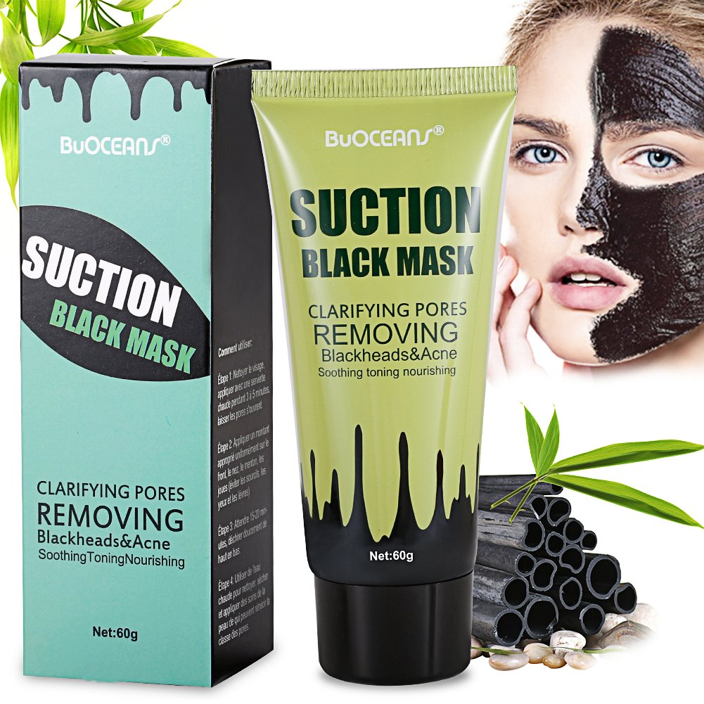 Point Noir Masque,Peel off Masque, Noir Masque, Black Head Masque, Blackhead Remover Masque, BUOCEANS Masque antidérapant nettoyage en profondeur, Deep Cleansing Peel Off acné Noir Masque, 60g