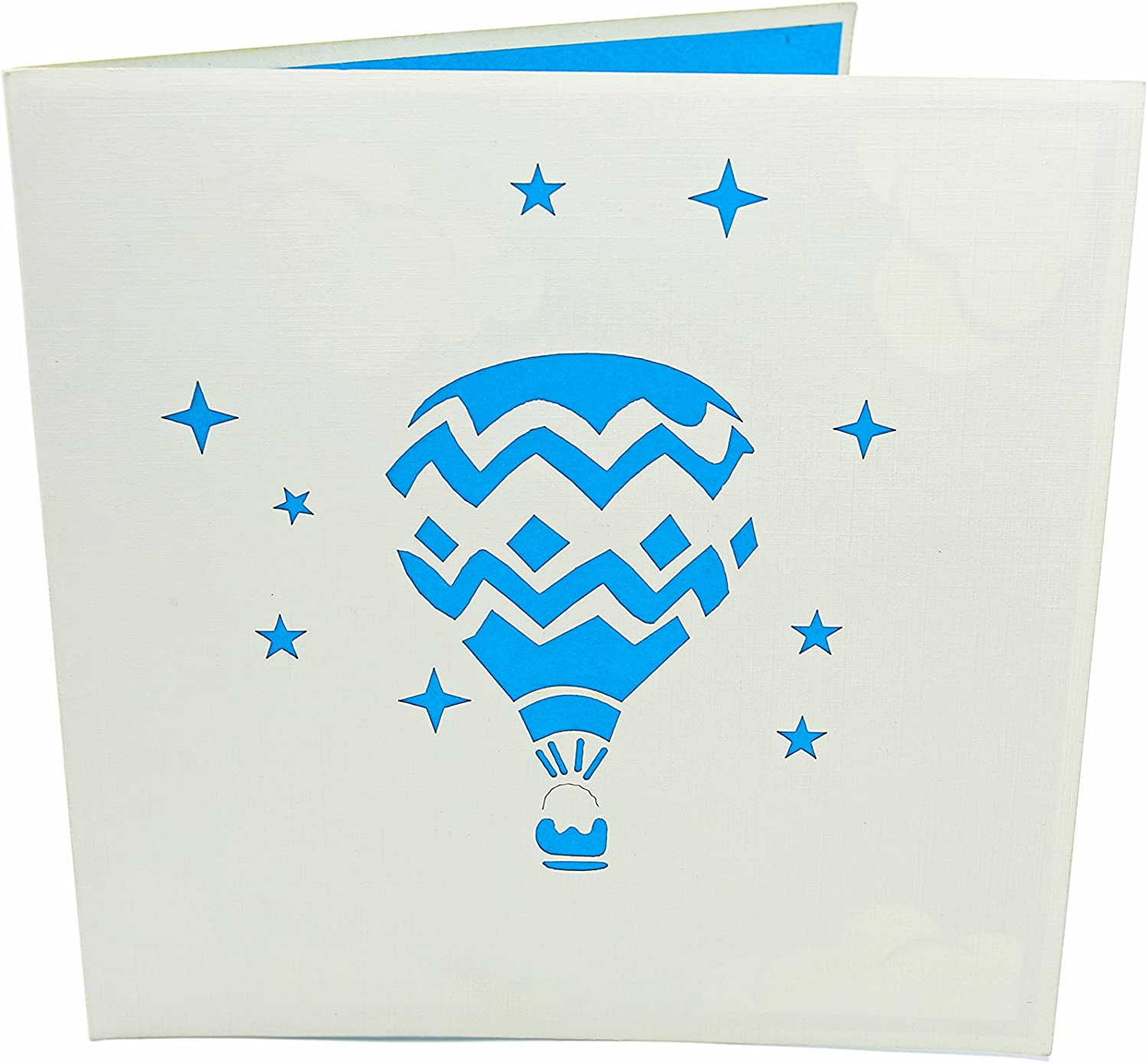 Travelers Baby Shower Adventure Lovers Parents PopLife Hot Air Balloon /& Sky 3D Pop Up Greeting Card for All Occasions Graduation Anniversary Retirement Folds Flat for Mailing Birthday