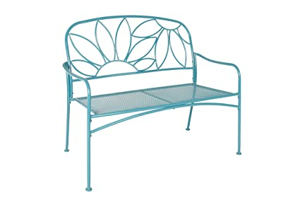 Fantastic Liberty Garden Patio Sk 140Pbnb Bright Fun Bench Blue Gmtry Best Dining Table And Chair Ideas Images Gmtryco