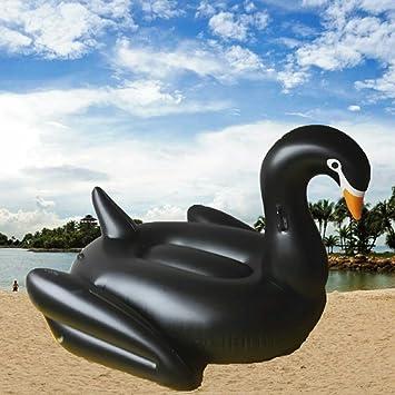 Desagüe de flotador inflable del PVC grande sillas cisne negro cisne Monte 190cm agua juguetes , white , 190cm: Amazon.es: Juguetes y juegos