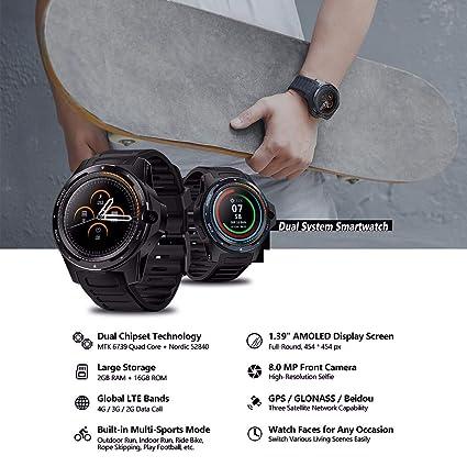 Sistema Dual Smartwatch 4G LTE Dual-Chip Pulsera Inteligente 1.39 ...