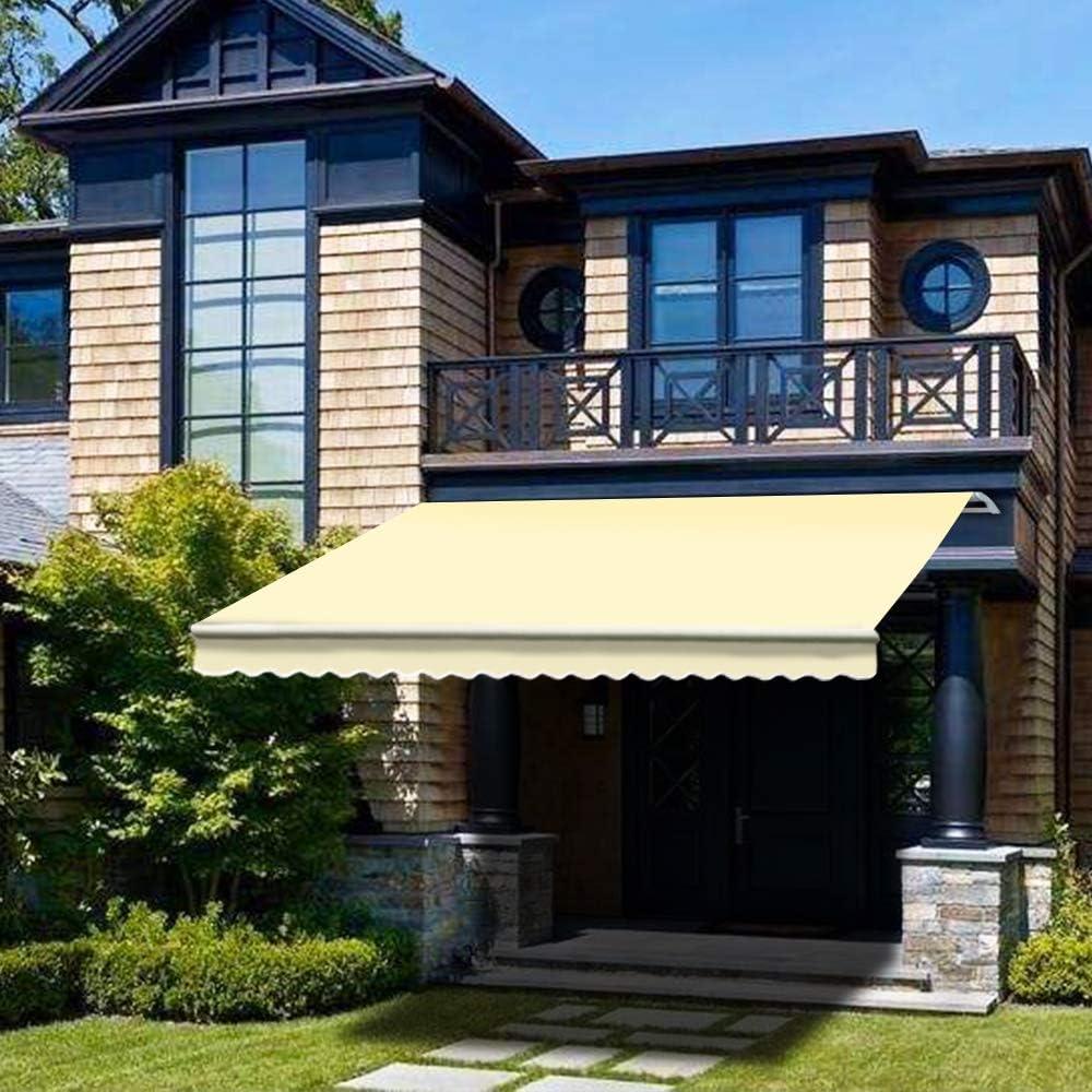 Green Bay - Toldo retráctil manualmente de 2, 5 x 2 m para jardín ...
