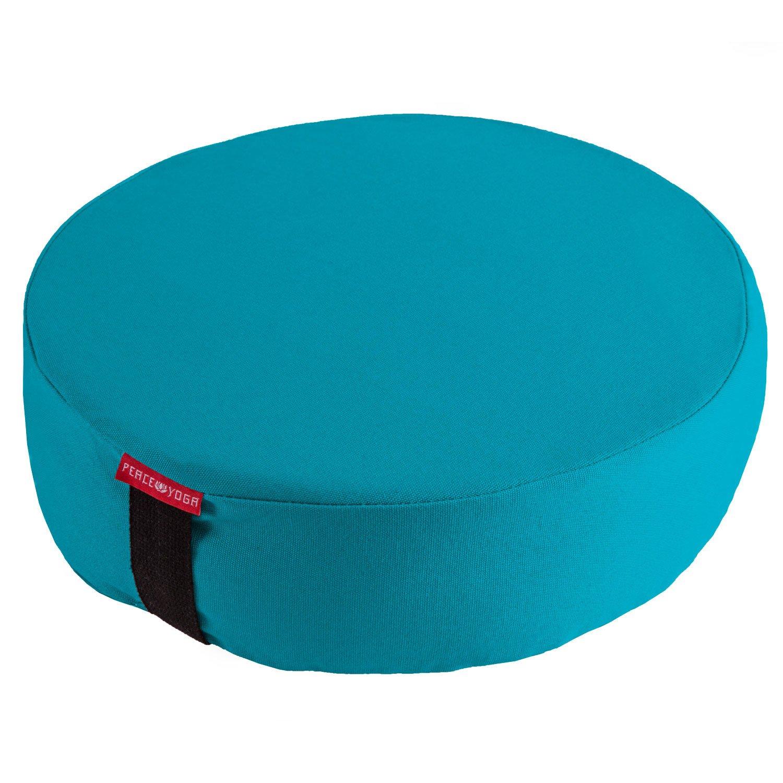 平和ヨガZafu瞑想ヨガBuckwheat Filledラウンドコットン枕枕クッション – Choose yourカラーとサイズ B071YDP9TM 16 x 16 x 4.5 Inches|ターコイズ ターコイズ 16 x 16 x 4.5 Inches