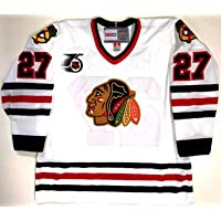 $330 » Jeremy Roenick Chicago Blackhawks Ccm Vintage White Nhl 75th Jersey New