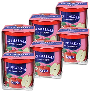 (Pack of 6) My Shaldan Japanese Car Natural Air Freshener Cans (Apple)
