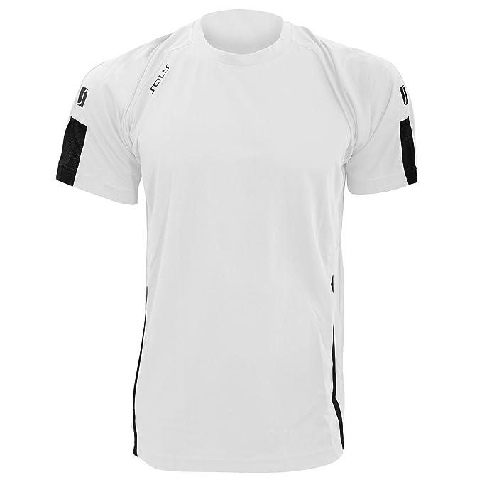 SOLS - Camiseta de Deporte fútbol Transpirable de Manga Corta para Hombre -  Modelo Wembley 3c24c852896c4