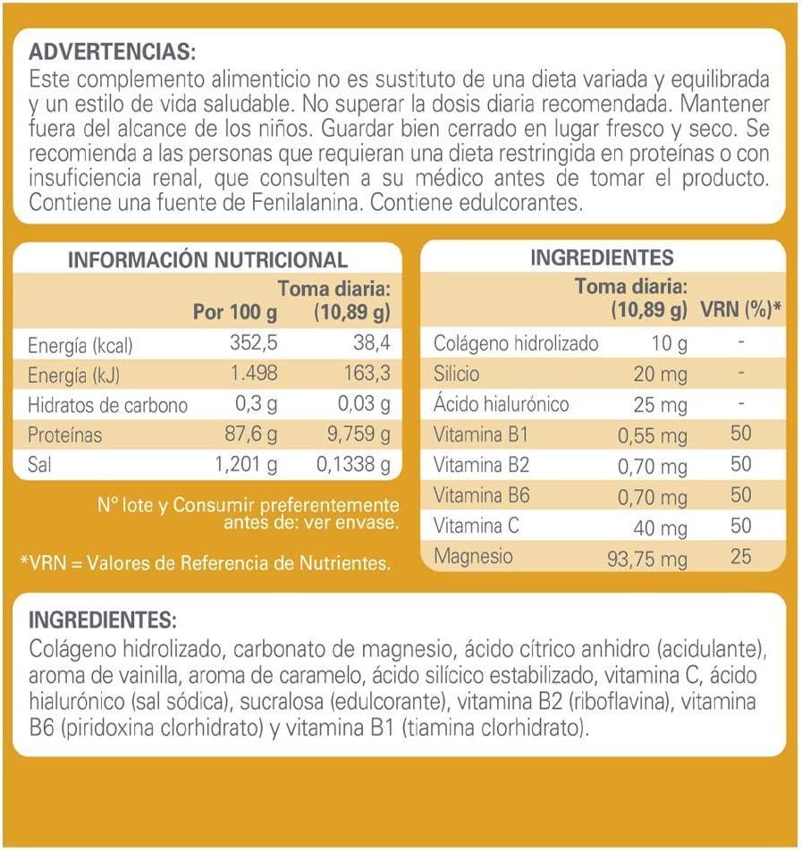 Epaplus Articulaciones Colágeno + Silicio + Ácido Hialurónico INSTANT-30 Días (326 gramos,sabor vainilla)