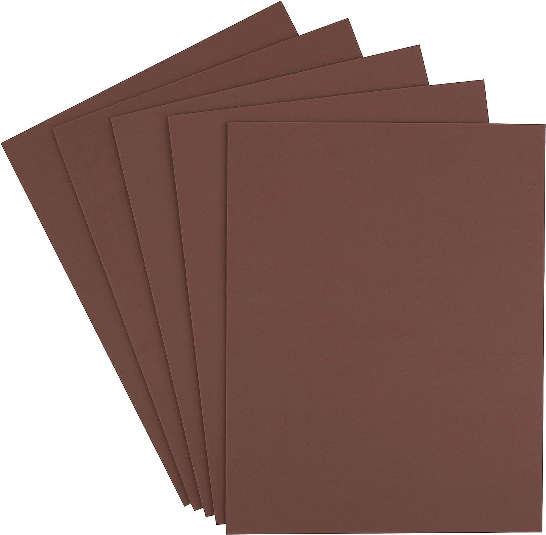 Moosgummi Platten 5er-Pack 3mm 40x30cm verschiedene Farben Orange