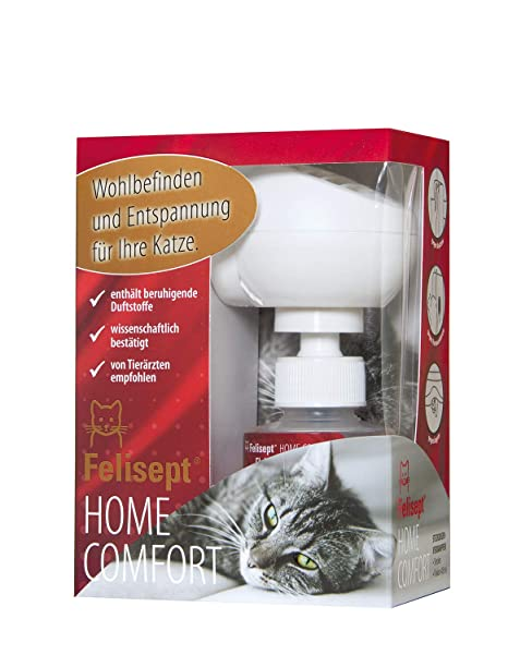 Quiko 250800 Felisept Casa Comfort Set - Calmar para los gatos (Difusor + Frasco 30