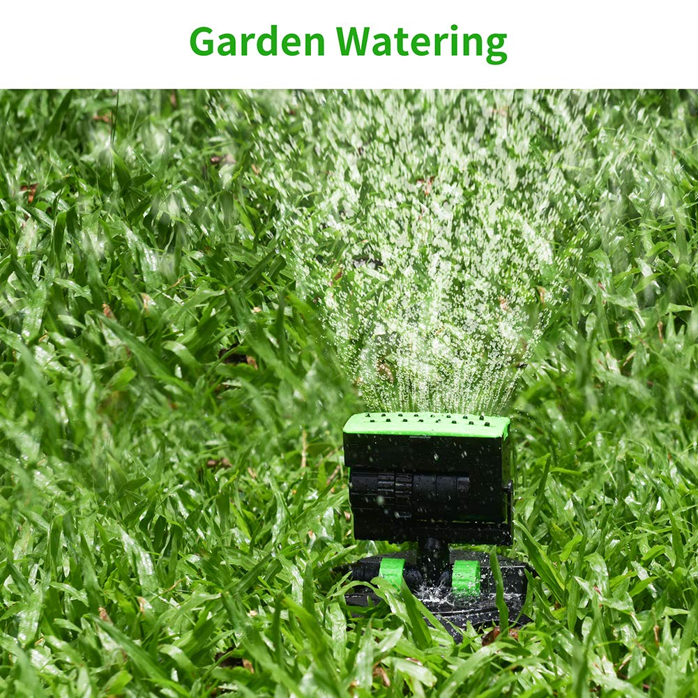 Four-Way Adjustable Lawn Sprinklers Automatic Rotation Water Sprinkler with One Touch Width Control /& Flow Control for Wide Areas Ankway Garden Oscillating Sprinkler System
