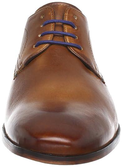 Bugatti U0815PR1 - Zapatos con cordones, de cuero, hombre, Marrón (coñac 644), 43