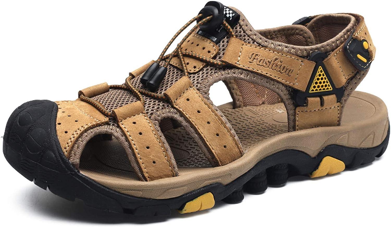Sandalias Deportivas al Aire Libre Visionreast Sandalias de Senderismo de Verano de Cuero de Playa para Hombres con Velcro Cómodos Zapatos de Trekking para Pescadores Botas de Senderismo