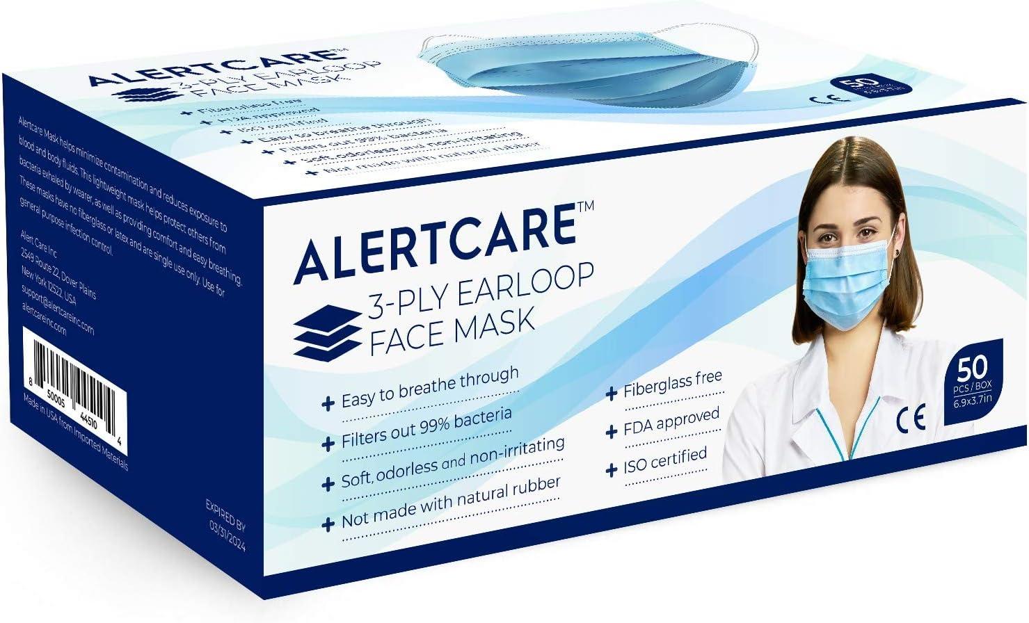 ALERTCARE 50 Pieces 3-Layer Disposable Face Shield