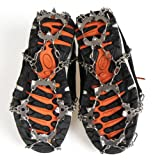 Micro spikes Footwear Ice Traction System Safe Protect for Walking, Jogging, or Hiking on Snow and Ice,Uelfbaby