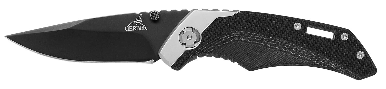 Adulto GERBER G0258 Cuchillo Tascabile,Unisex un tama/ño Negro