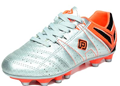 eab0639f9a6 DREAM PAIRS 160471-K Kid s Fashion Soccer Shoes Outdoor Light Weight Lace Up  Football Sport