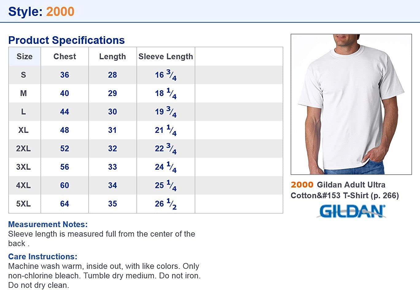 Gildan Mens Seamless Double Needle Preshrunk T-Shirt
