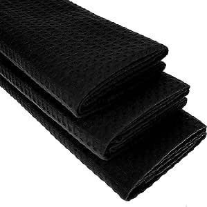 3 x Paños de cocina – 100% algodón Suela de costura en negro/Trapo/Paño/: Amazon.es: Hogar