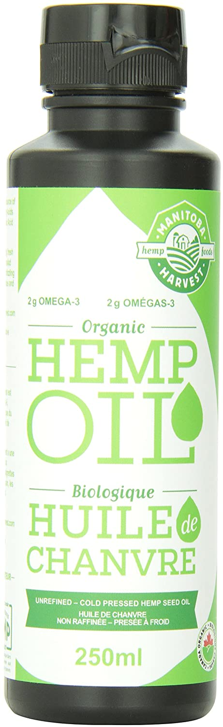 Manitoba Harvest Certified Organic Cold Pressed Hemp Seed Oil, 248ml, 10g of Omegas per Serving, Non-GMO