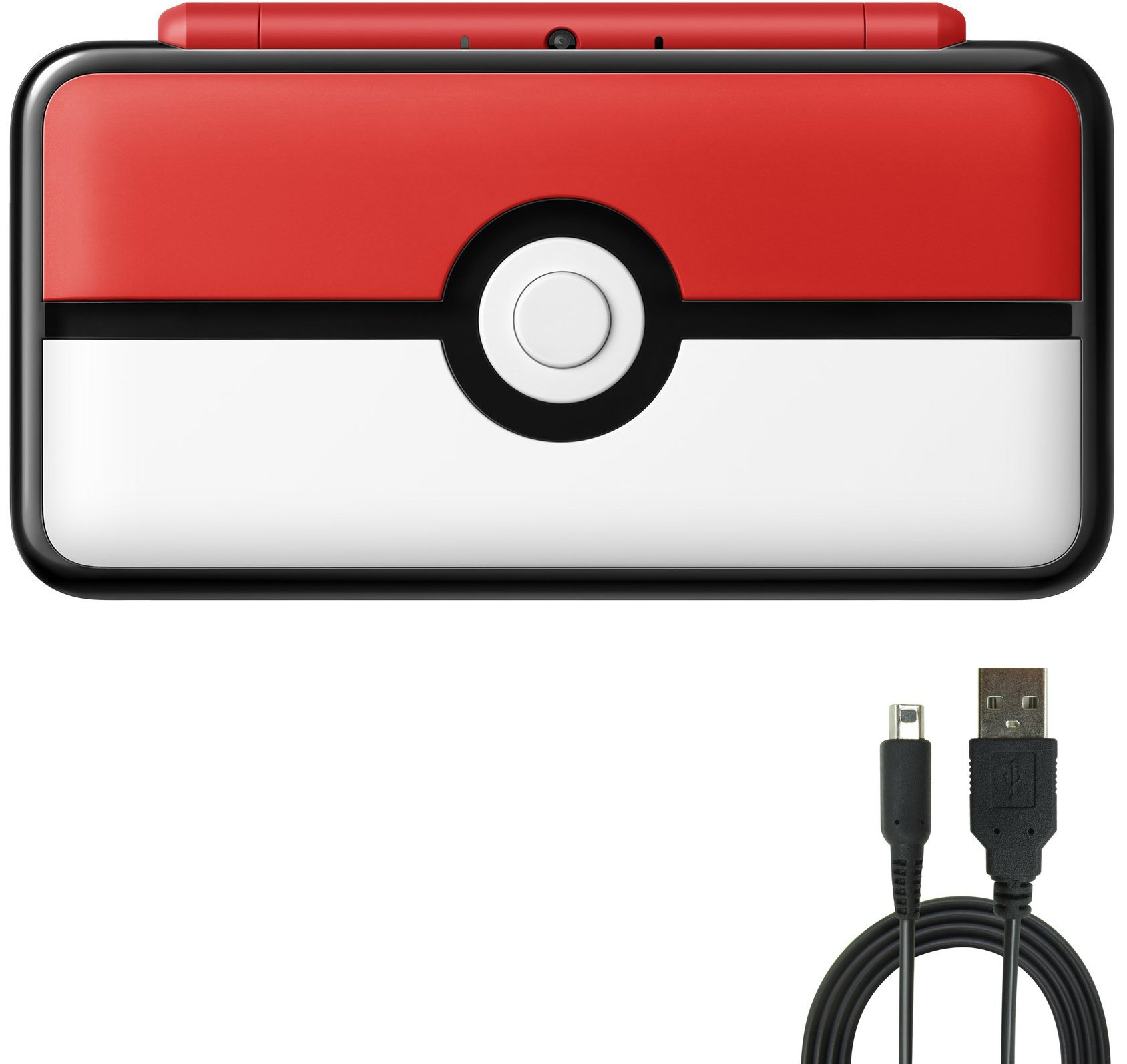 Nintendo 2DS (2 Items) Bundle:Nintendo New 2DS XL - Poke Ball Edition and USB Sync Charge USB Cable by Nintendo