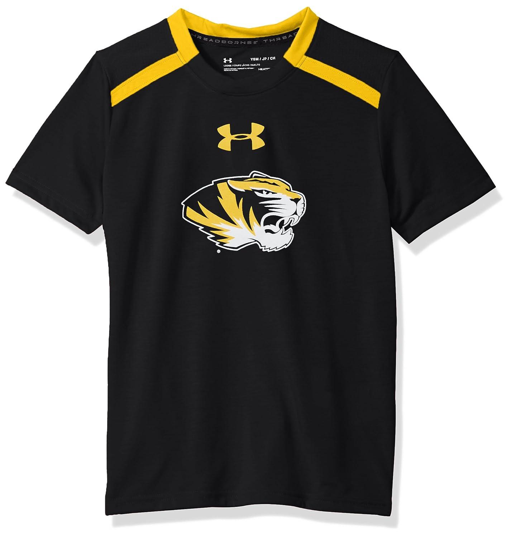Medium Under Armour NCAA Missouri Tigers Teen-Boys NCAA Boys Short Sleeve Vented Tee Black