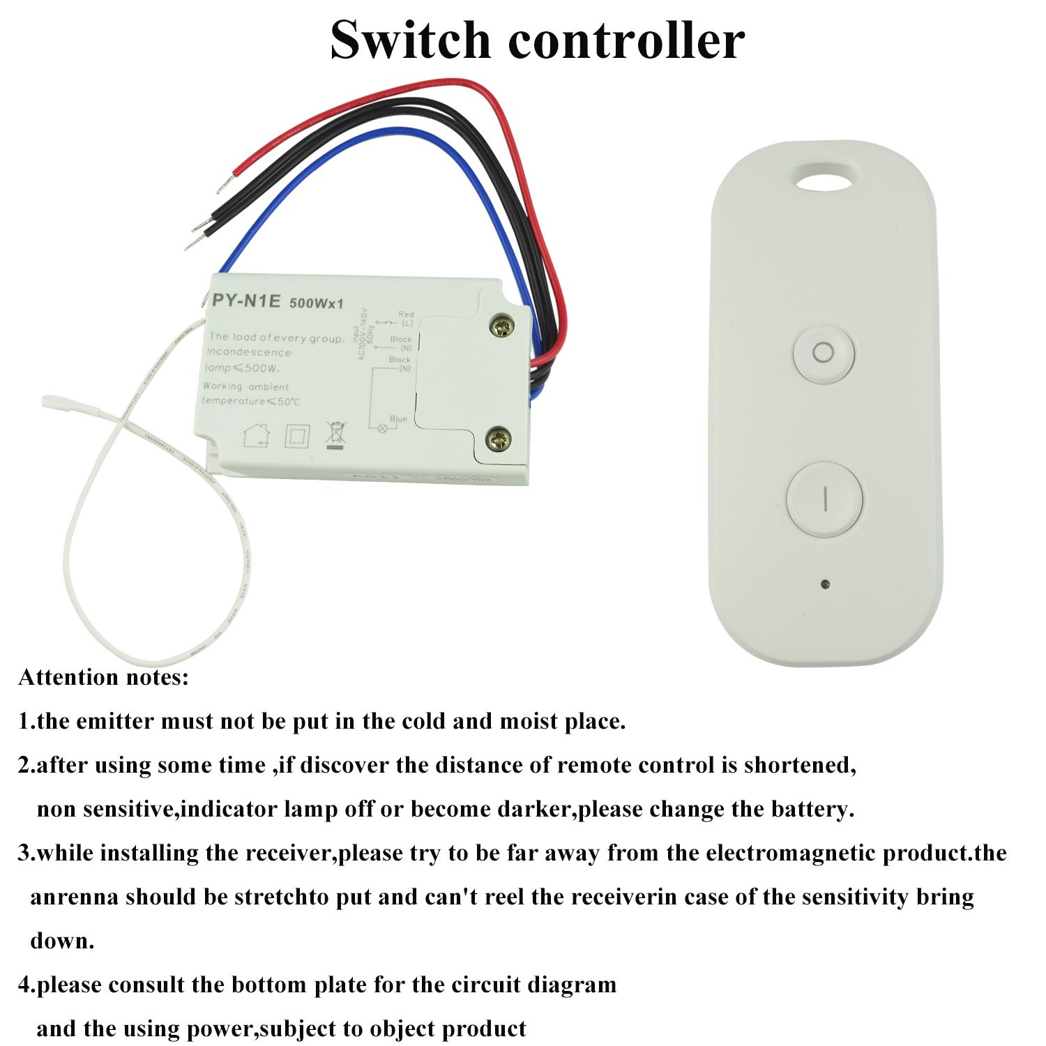 Wireless Remote Switch Control 110v For Fluorescent Lamp Halogen Led 250vac Wiring Diagram Incandescent Pool Light