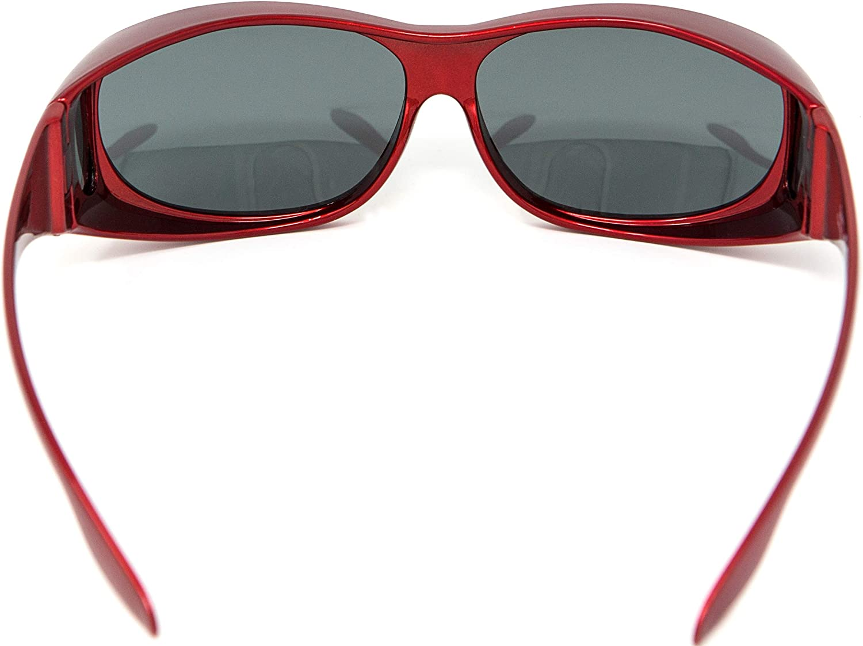 Opticaid Over glasses Fit over sunglasses Polarised Anti glare UV400 Wrap Around Mens Womens Black demi Grey lens Category 3 Remaldi