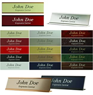 Personalized Office Name Plate With Wall or Desk Holder - 2x8 ...