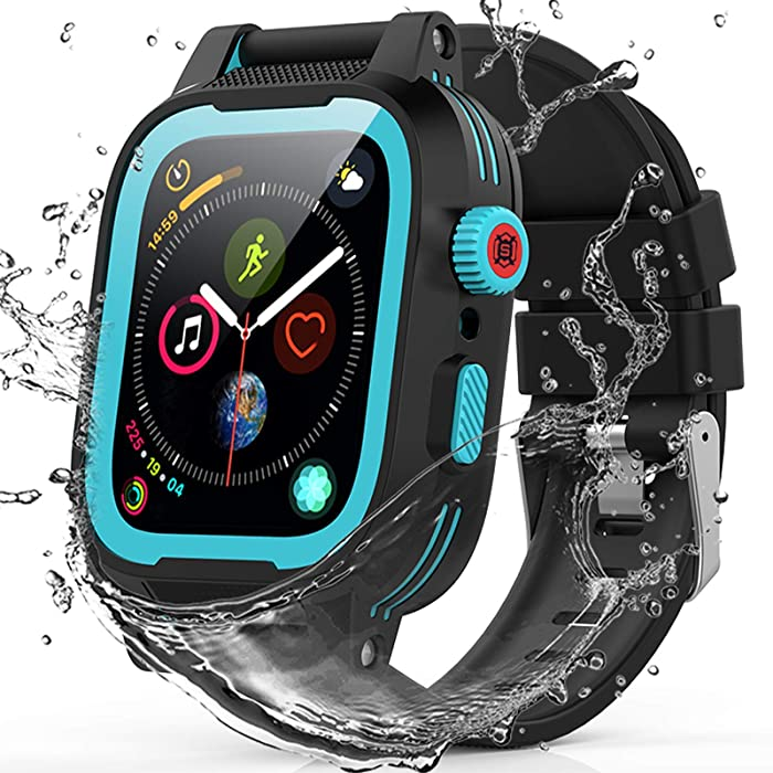 Apple Watch 42mm Seaies 3/2 Case, YOGRE Waterproof Case with Built-in Screen Protector and Full Body Protection Design, Dustproof Shockproof Waterproof Case for 42mm, Blue