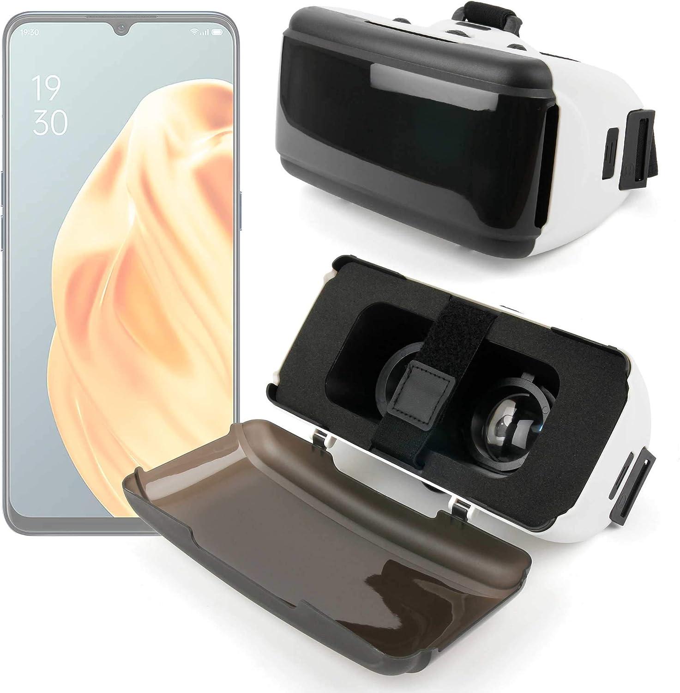 DURAGADGET Gafas de Realidad Virtual VR Ajustables en Color Negro Compatible con Smartphones OPPO A8, OPPO A91, OPPO Reno 3, OPPO Reno 3 Pro + Gamuza limpiadora.: Amazon.es: Electrónica