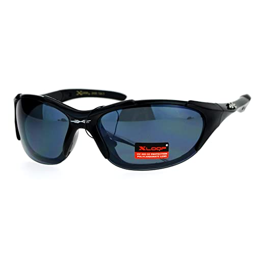 2045d94e4a Xloop Sports Sunglasses Oval Wrap Around Frame Aerodynamic Design Black