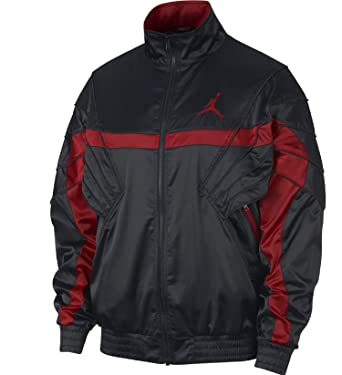 55b65ecb260466 Nike Mens JSW AJ5 Satin JKT AR3130-010 at Amazon Men s Clothing store