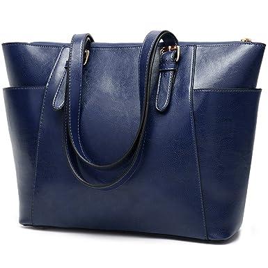 d6eae334ac33d Amazon.com  Women Tote bag leather handbags Satchel purse Shoulder Bags  with Zipper for Ladies  Clothing