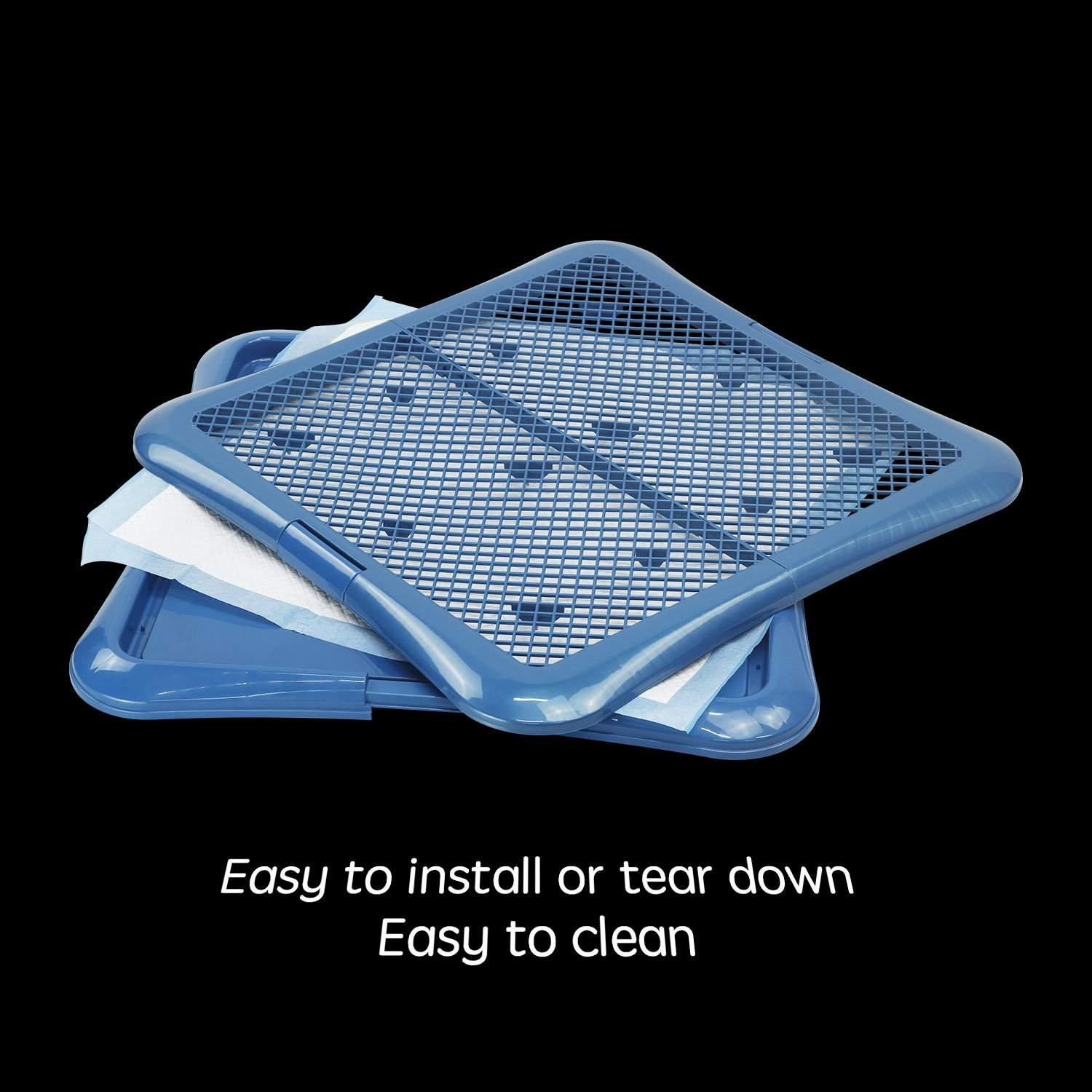 Petphabet Training Pad holder Floor Protection Dog Pad Holder Mesh Training Tray (L) by Petphabet (Image #7)
