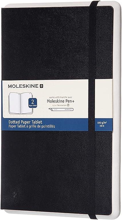 Moleskine Paper Tablet Hard Cover Smart Notebook Dotted 2 Large 5 X 8 25 Black Compatible W Moleskine Pen Ellipse Sold Separately App Digitize Organize Notes Bullet Journal Office Products