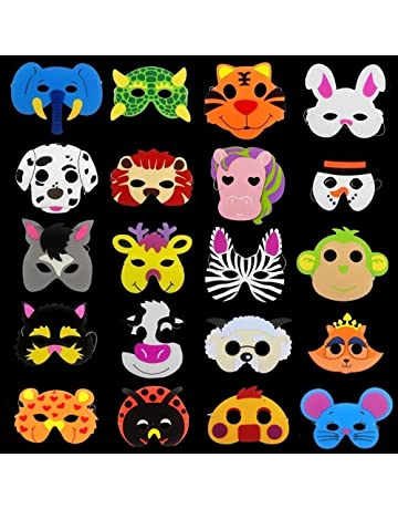 Creativee 20 x Niños Eva Foam Wild Animal de Granja Máscaras Fiesta Juguetes de llenado de