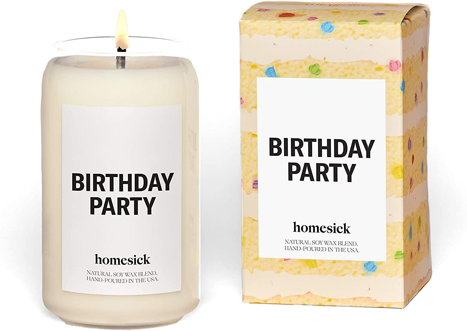 Homesick Scented Candle, Birthday Party, 13.75 oz
