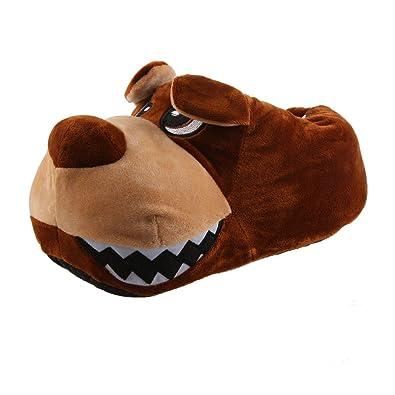 Hund Grumml Tier Plüsch Hausschuhe Pantoffel Schlappen Kuscheltier Plüsch Tier Herren 41-46 d90ef0