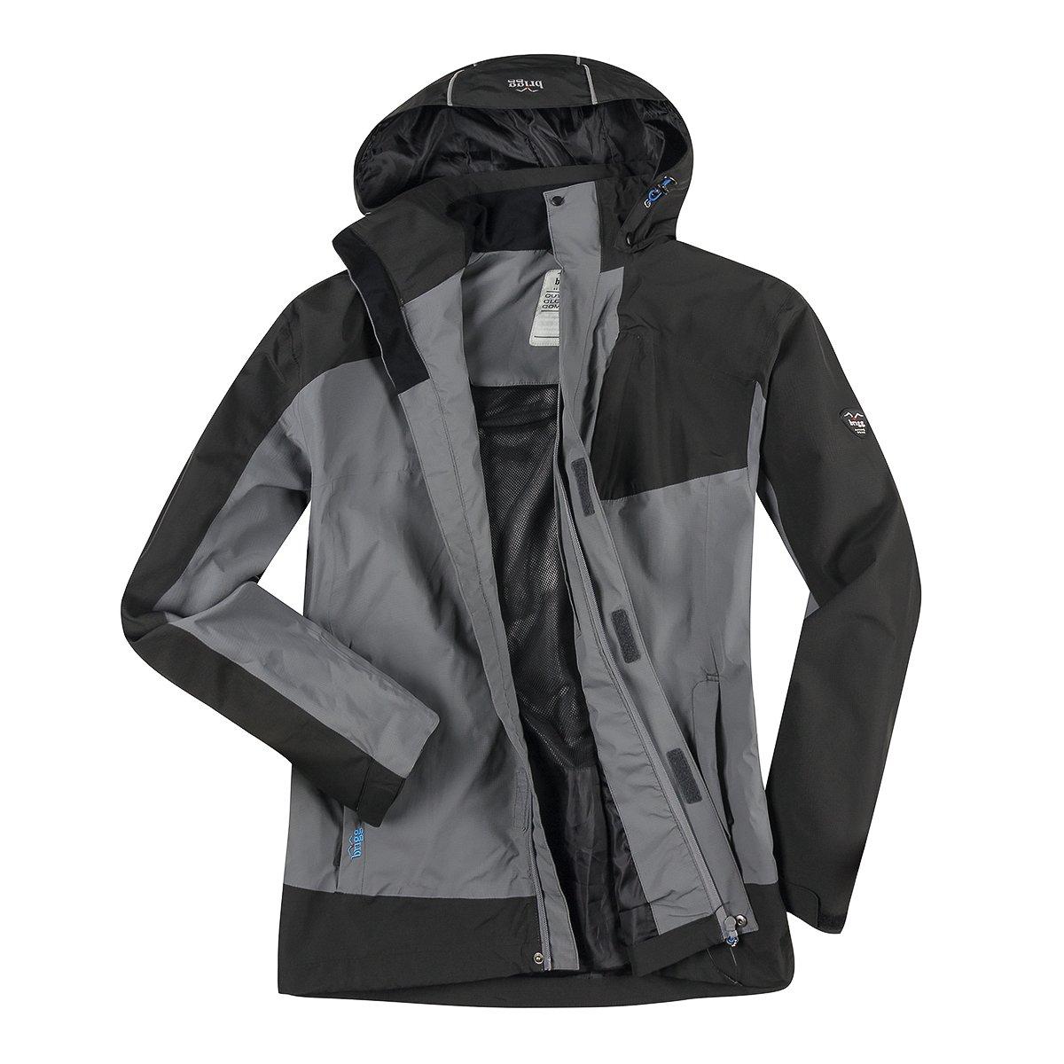 Brigg XXL leichte Funktionsjacke in grau-schwarz B07BSGRWS2 Jacken Stilvoll und lustig
