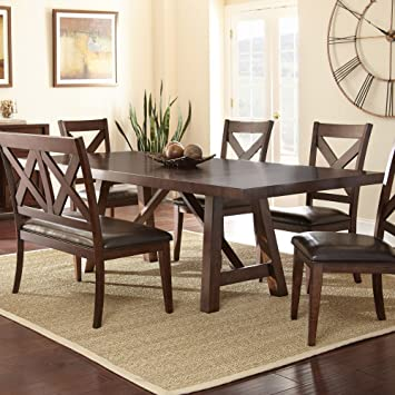 Amazoncom Steve Silver Company Clapton Dining Table X - 30 x 42 dining table