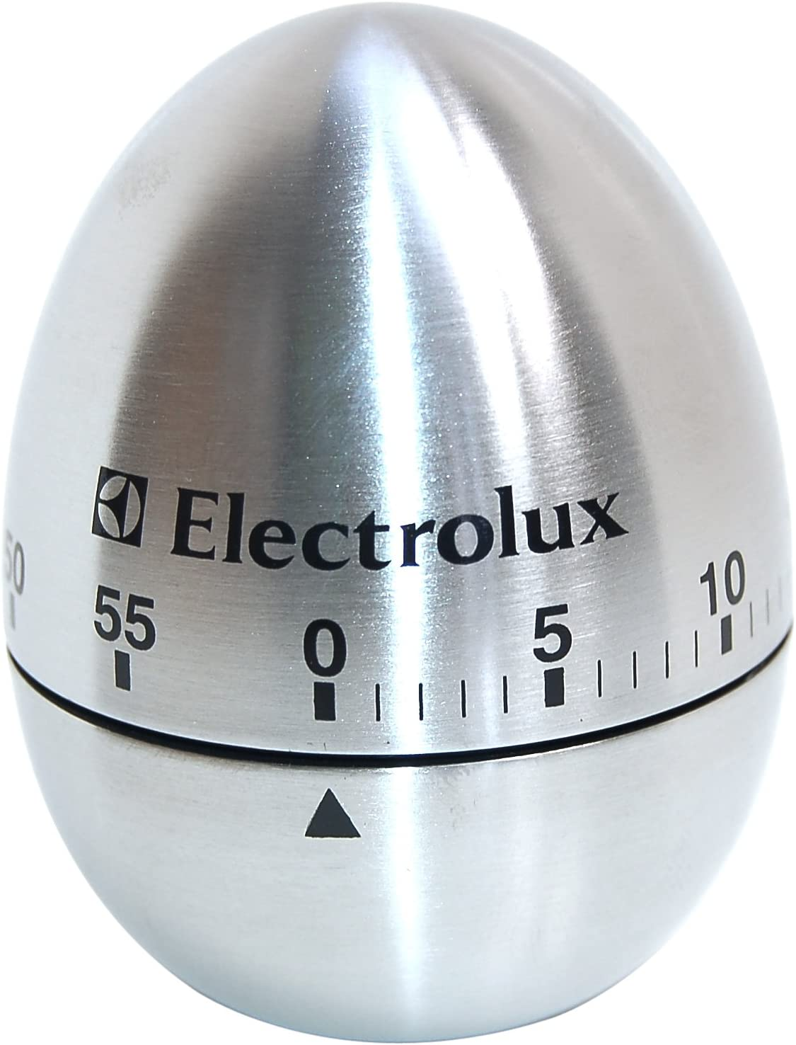 M/écanique en Acier Inoxydable en Forme Doeuf Alarme Rotative Minuterie de 60 Minutes pour Accessoires de Cuisine Outil de Cuisson Minuterie de Cuisine Manuelle