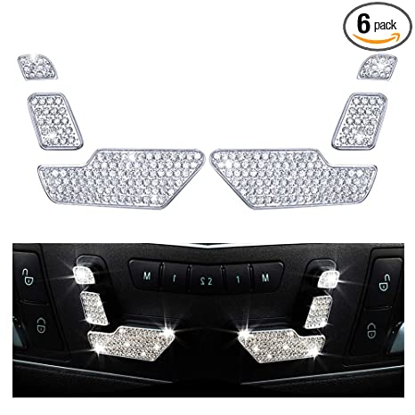 1797 Compatible Seat Adjust Button Caps for Mercedes Benz Accessories Parts  Bling W204 W212 C117 X156 CE CLA GLA GLE Class AMG Covers Decals Interior