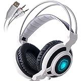 Sades Arcmage 3.5mm PC Gaming Headset Auriculares con micrófono de Volumen Control de Ruido Cancelación