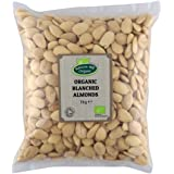 Organic Blanched Almonds 1kg by Hatton Hill Organic - Free UK Delivery