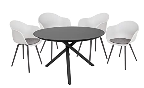 Garden Pleasure Kendra/Zara - Juego de sillas de jardín (5 ...