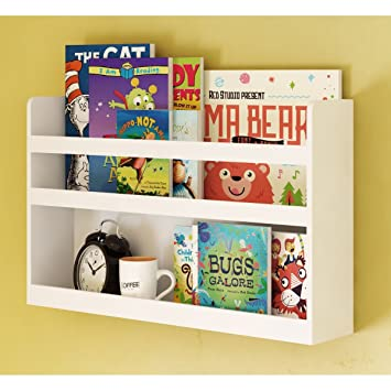 Amazoncom Childrens Kids Room Wall Shelf Wood Material Great For