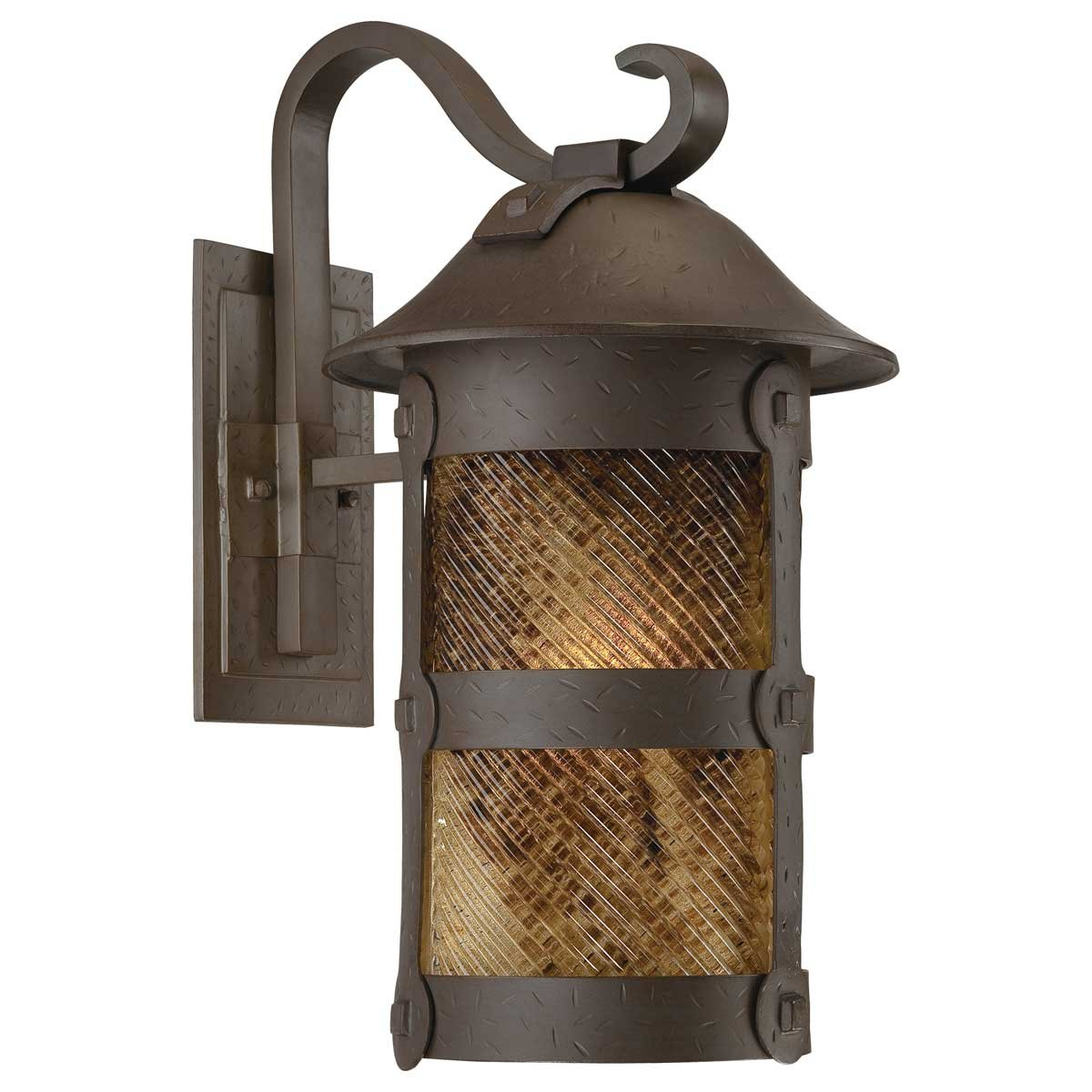 Minka Lavery 9253-A199-PL 1 Light Outdoor Wall Mount Lighting, Forged Bronze Finish