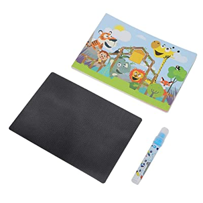 3D Water Painting Book, Animation Water Drawing Graffiti Book Painting Educational Cards for Children Art Early Education : Baby