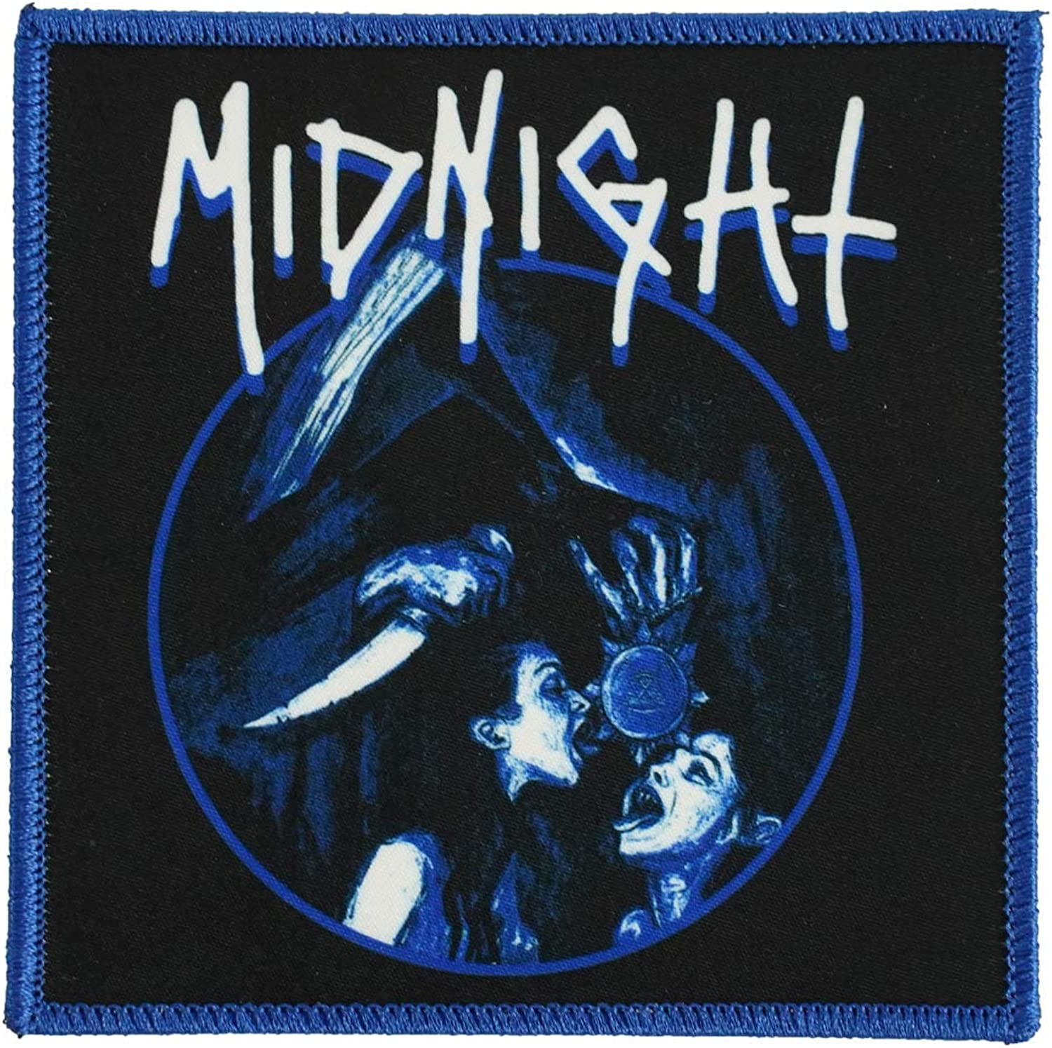 Midnight Mens Satanic Royalty Embroidered Patch Blue