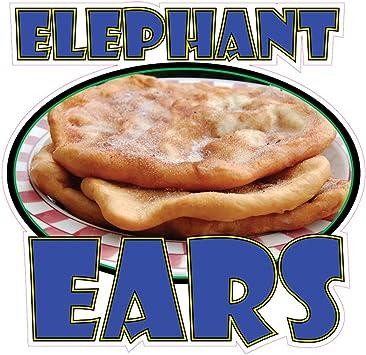 Amazon Com Die Cut Sticker Multiple Sizes Elephant Ears Style B